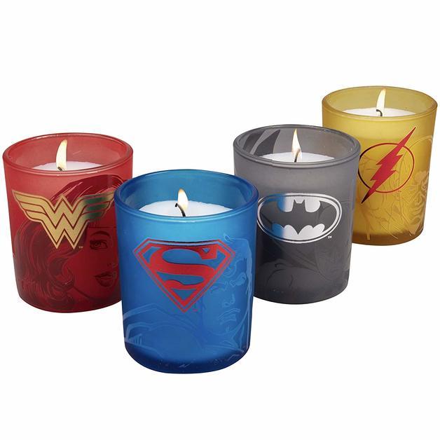DC Comics: Justice League Glass Votive Candle Set (Set Of 4)