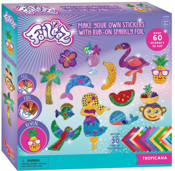 My studio girl foileez tropicana large sticker pack image