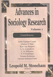 Advances in Sociology Research: v. 1 image