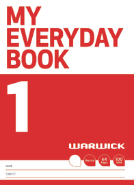Warwick: My Everyday Book 1 - Unruled image