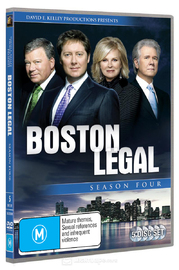 Boston Legal - Season 4 (5 Disc Set) (2007) on DVD image