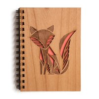 Cardtorial Wooden Journal - Fox