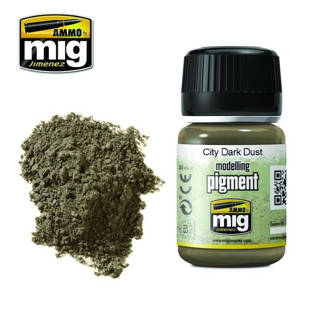 Ammo of Mig Jimenez City Dark Dust Pigment (35ml)