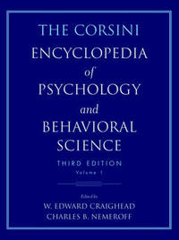 The Corsini Encyclopedia of Psychology and Behavioral Science: v.3 by Raymond J. Corsini image
