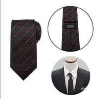 Star Wars Darth Vader Black Lightsaber Stripe Mens Tie image