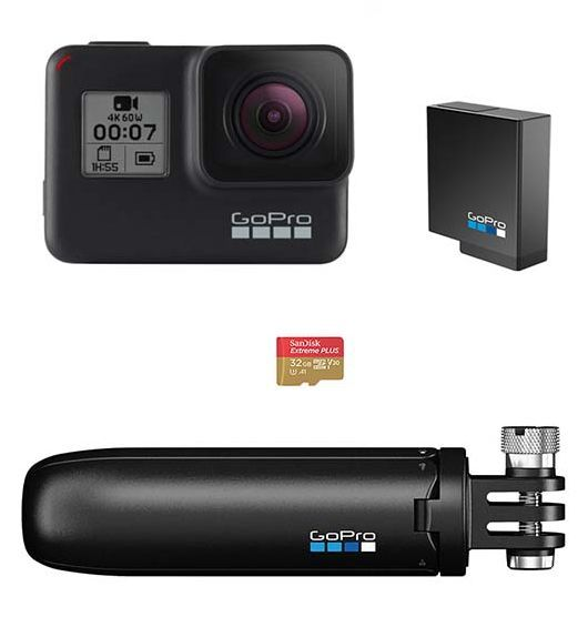 GoPro Hero7 Black - Holiday Bundle