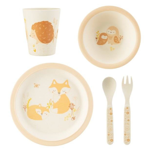 Sass & Belle: Woodland Baby Bamboo Tableware Set