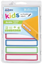 Avery: Kids Writable Labels - Green, Blue & Red Border