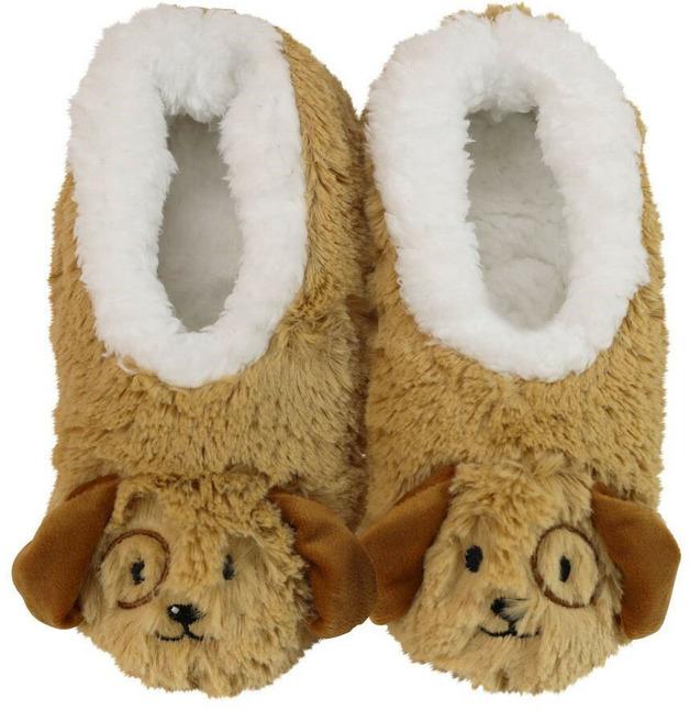 Slumbies Puppy Furry Foot Pals Slippers (S)