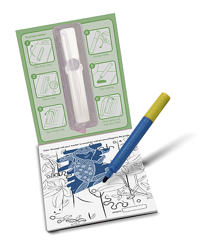 Surprize Ink! Jungle On the Go Travel Activity Book - Melissa & Doug image