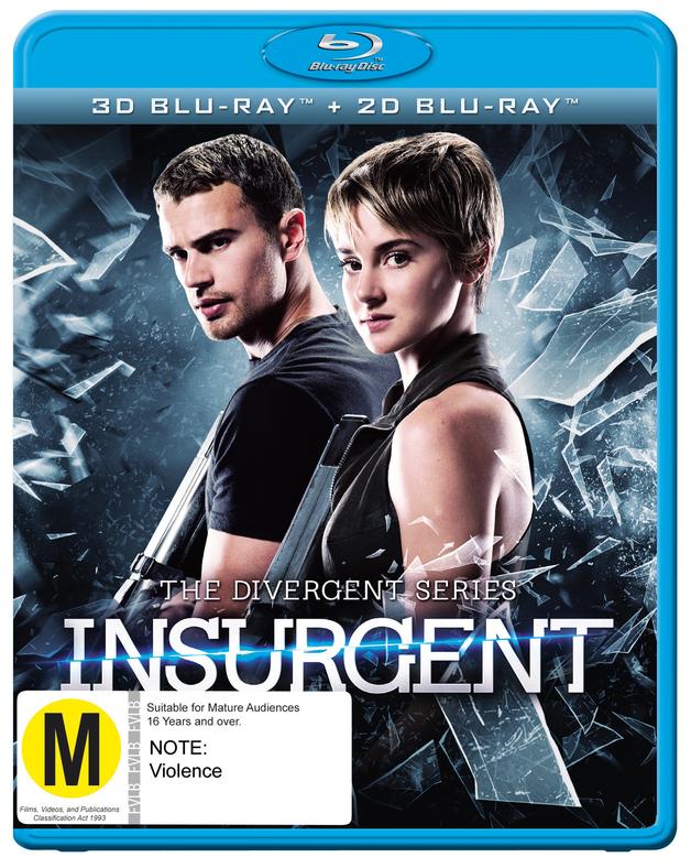 Insurgent on Blu-ray, 3D Blu-ray