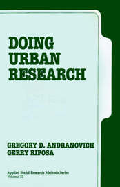 Doing Urban Research by Gregory D. Andranovich