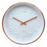 Curve Wall Clock - White/ Copper
