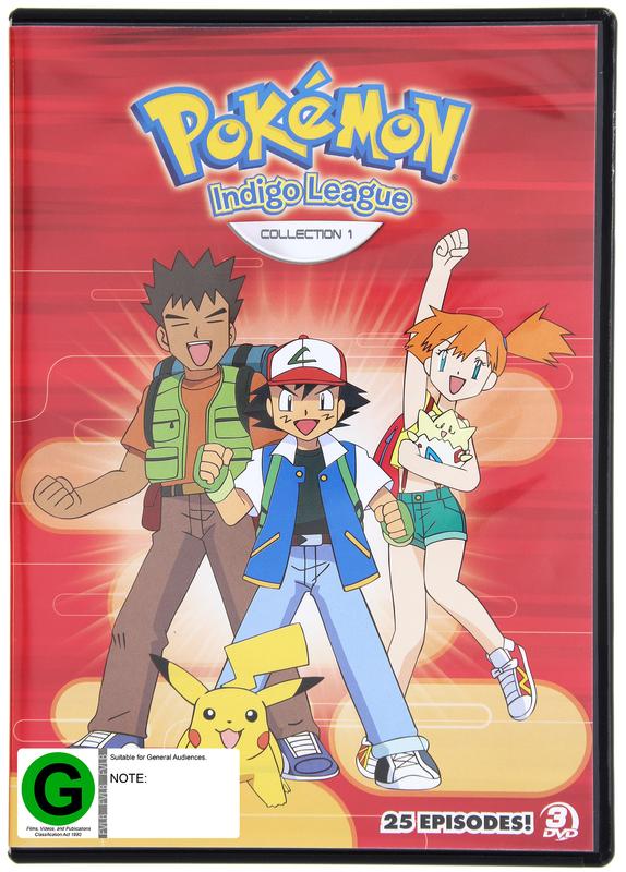 Pokemon: Season 1 - Indigo League Collection 1 (Episodes 1 - 26) on DVD