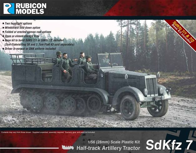 Rubicon 1/56 SdKfz 7 Halftrack