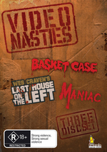 Video Nasties (Basket Case / Last House On The Left / Maniac) (3 Disc Set) on DVD