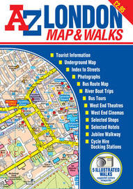 A-Z London Map and Walks by Geographer's A to Z company image