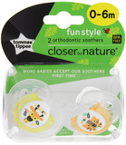 Closer to Nature Fun Style Soother: 0-6 Months (Giraffe & Tiger)