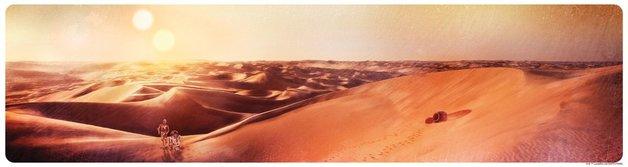 Star Wars: Tatooine Sunset by Rich Davies - Lithograph Art Print
