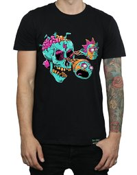Rick and Morty: Eyeball Skull T-Shirt - Black (X-Large)