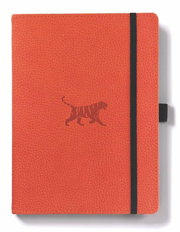 Dingbats Wildlife: A5 Orange Tiger Notebook - Dotted