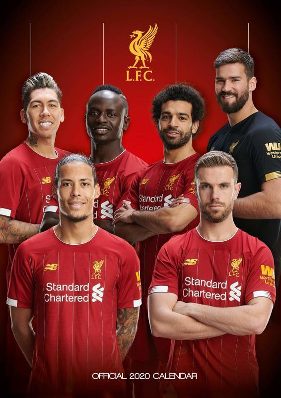 Official Liverpool 2020 A3 Wall Calendar