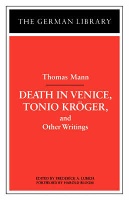 """Tonio Kroger"", ""Death in Venice"" and Other Writings image"