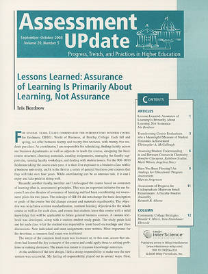 Assessment Update Volume 20, Number 5, September-october 2008 image