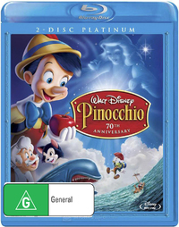 Pinocchio - 70th Anniversary: Platinum Edition on Blu-ray