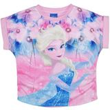 Disney Frozen Elsa Pink Flower T-Shirt (Size 4)
