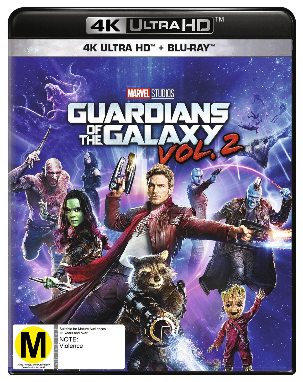 Guardians of the Galaxy Vol. 2 on Blu-ray, UHD Blu-ray image