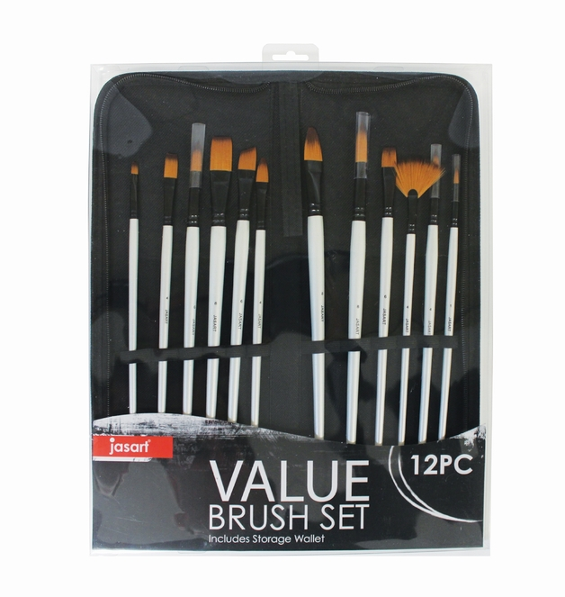 Jasart Long Handle Brush Wallet Set (12pc)