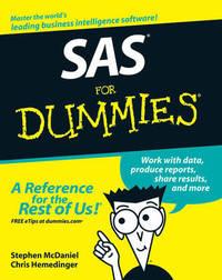 SAS For Dummies by Stephen McDaniel image