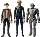 "Doctor Who 3.75"" Action Figure Set - 11th Doctor, Cyberman & Silent"