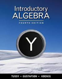 Introductory Algebra by Alan S Tussy image