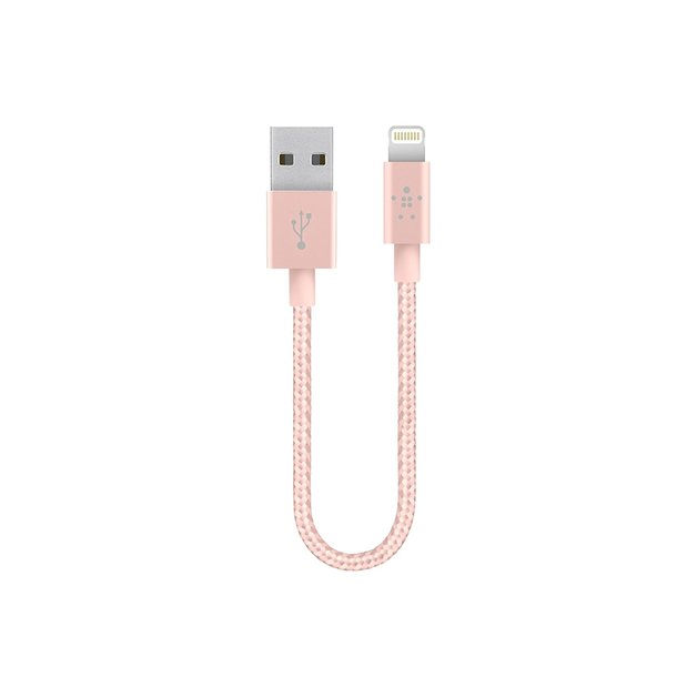 Belkin-Mixit Up: Lightning Cable 15cm - Rose Gold