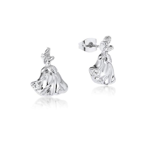 Couture Kingdom: Disney Princess Cinderella Stud Earrings - White Gold