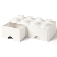 LEGO Storage Brick Drawer 8 (White)