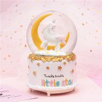 Unicorn Snow Globe - Moon