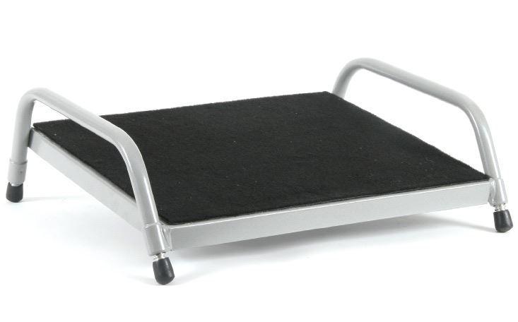 Fluteline Footrest Small Black Carpet - Silver Elite Frame image