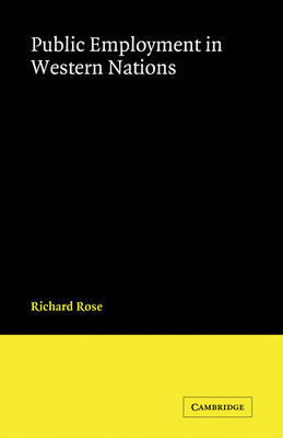 Public Employment in Western Nations by Richard Rose image