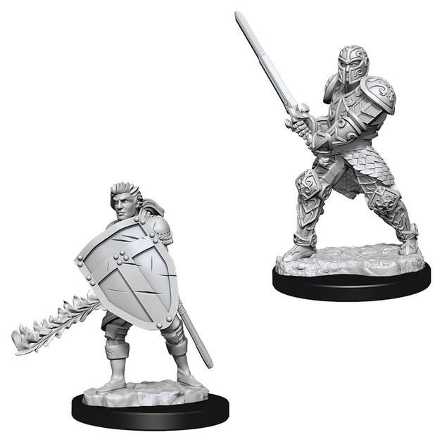 D&D Nolzur's Marvelous: Unpainted Miniatures - Male Human Fighter