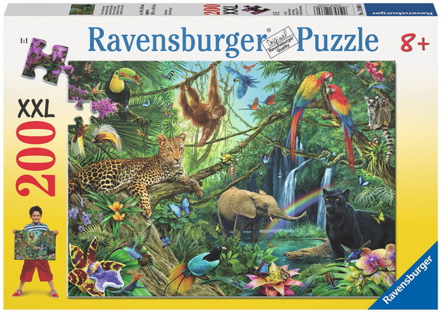 Ravensburger 200 Piece Jigsaw Puzzle - Animals in the Jungle