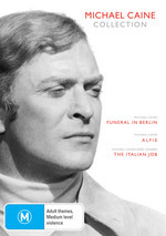 Michael Caine Collection (Funeral At Berlin / Alfie / Italian Job) (3 Disc Set) on DVD