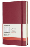 Moleskine Large Hard Cover 12 Month Daily Planner - Berry Rose