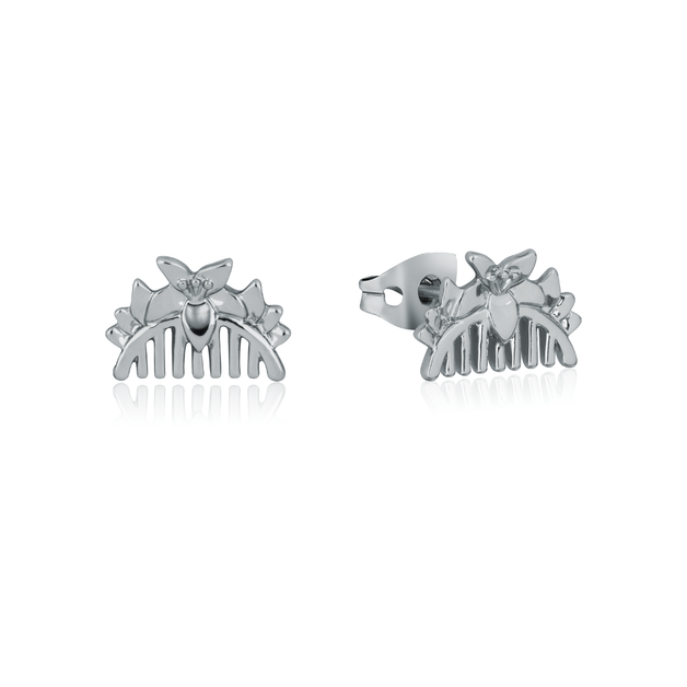 Couture Kingdom: Disney Mulan Comb Stud Earrings White Gold