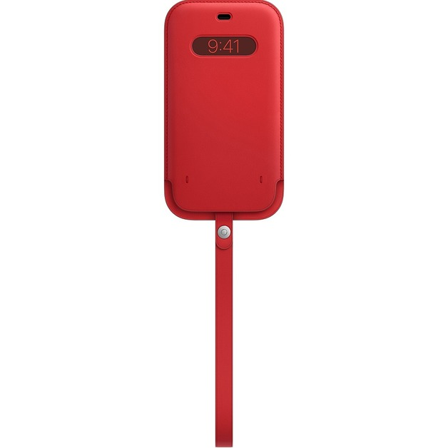 iPhone 12 Pro Max Leather Sleeve with MagSafe - Red
