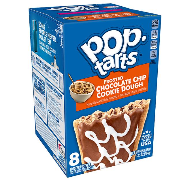 Kellogg's Pop-Tarts Chocolate Chip Cookie Dough (Pack of 8)