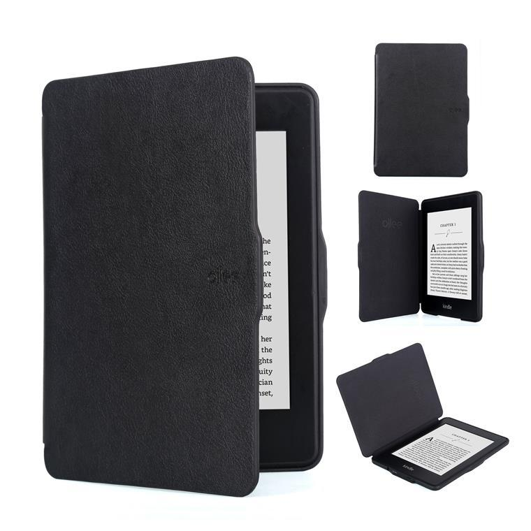Ollee Protective Case for Kindle Paperwhite 2 & 3 -Black