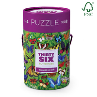 Crocodile Creek 36 Animal Puzzle Butterflies 100pc